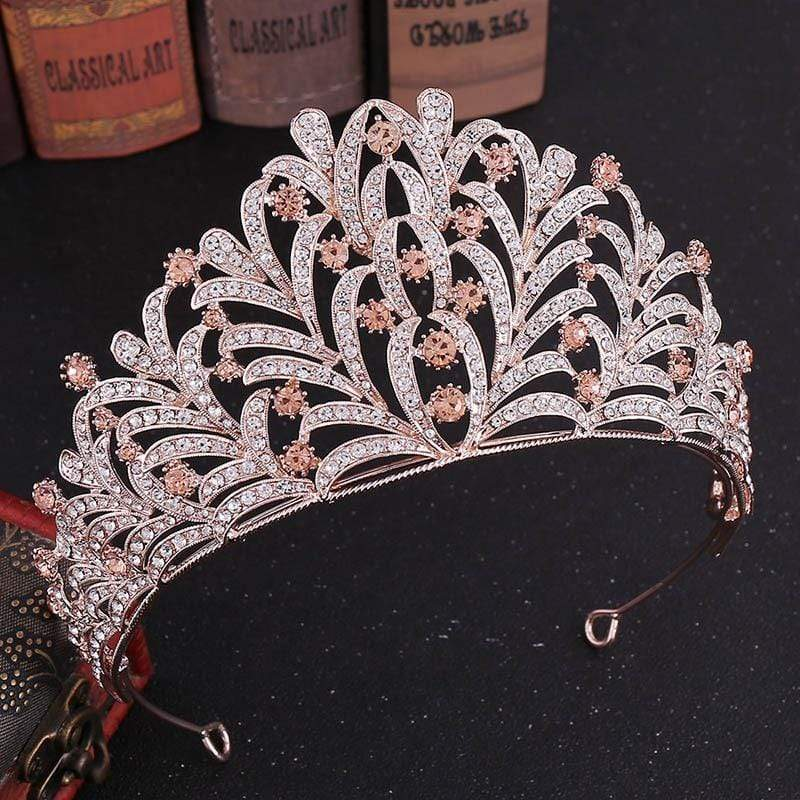 "6"" Tall Quinceanera Corona with Crystals - 3DVanity.com"