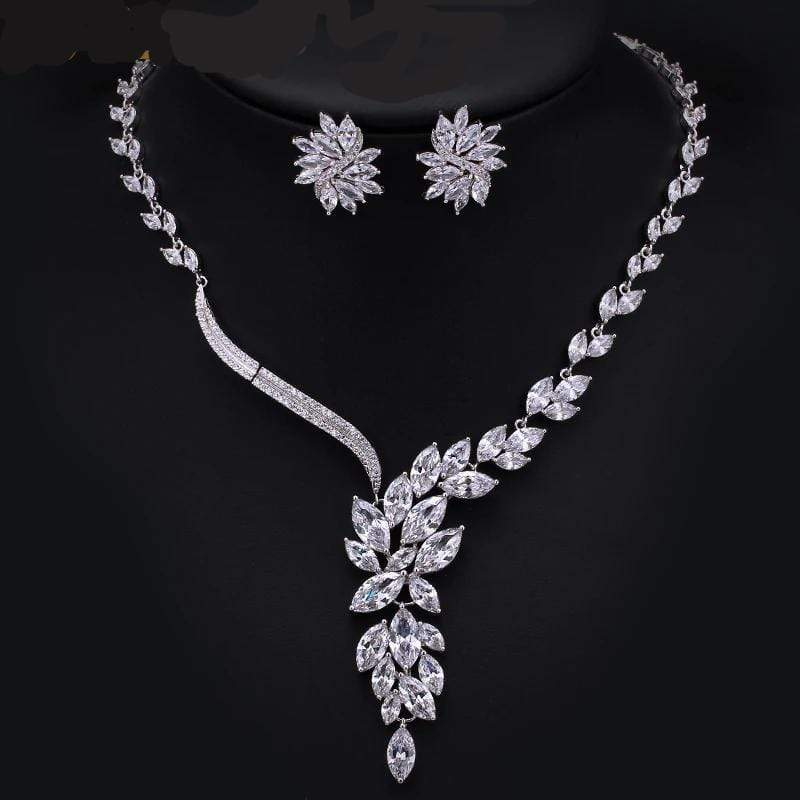Cubic Zirconia Bridal or Anniversary Jewelry Set - 3DVanity.com