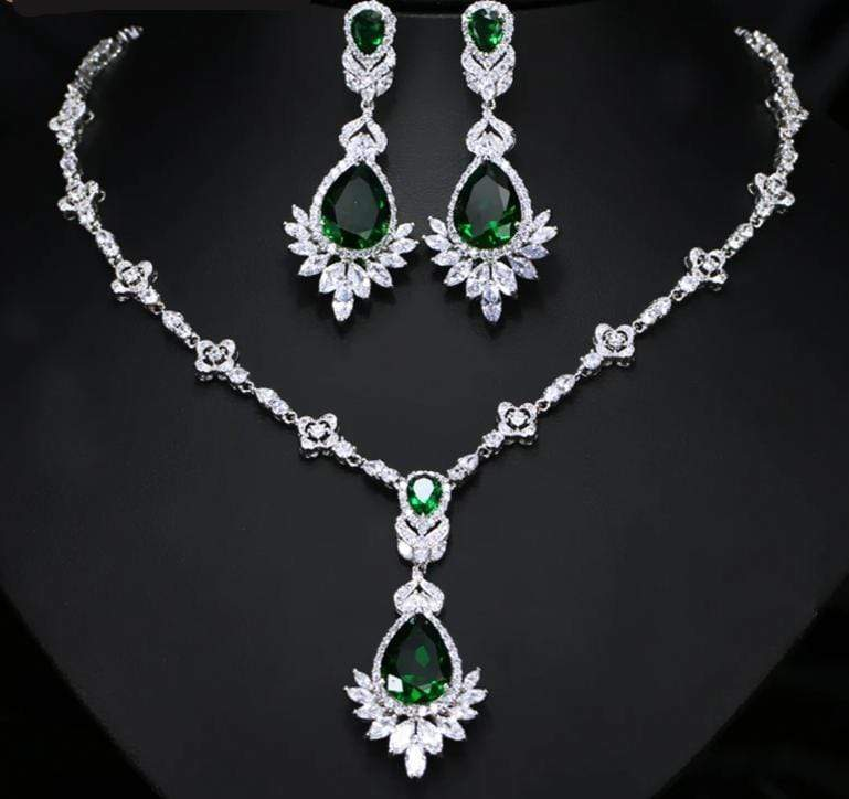 Cubic Zirconia  Luxury Necklace Earring Set - 3DVanity.com