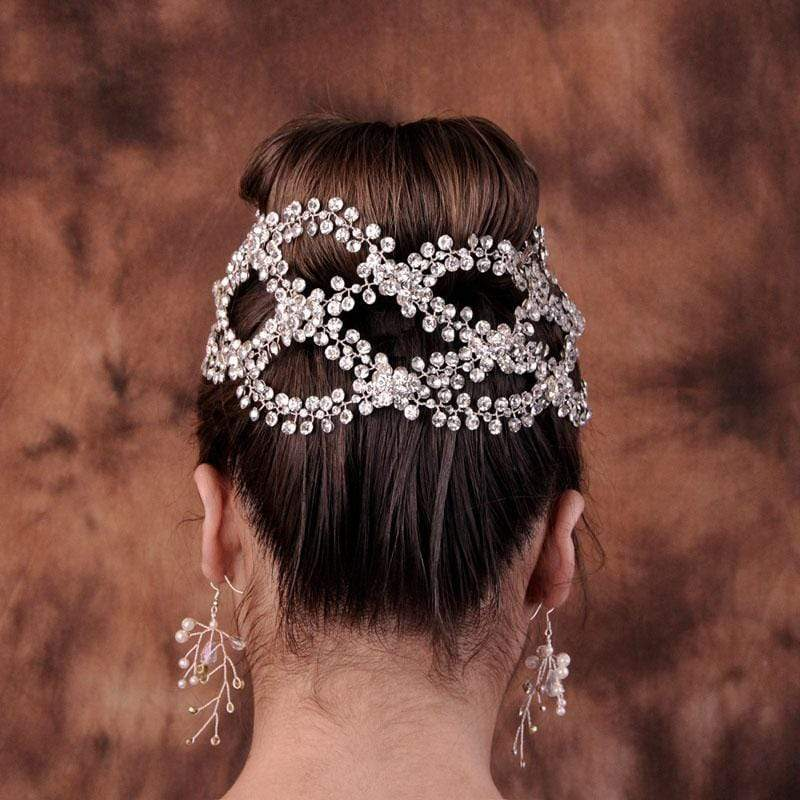 Handmade Hair Accessory with Luxury Rhinestone Crystal Pearls - 3DVanity.com
