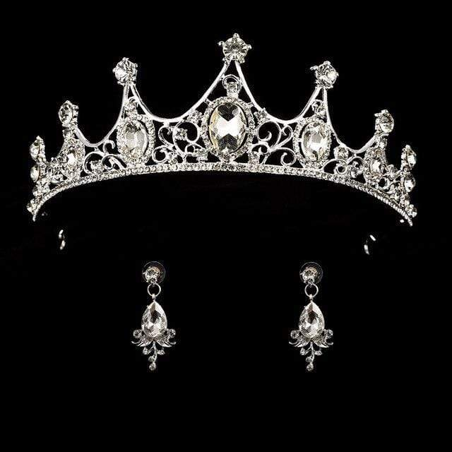 Queen Crown Tiara & Earring Set 50% OFF - 3DVanity.com