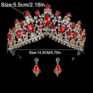 Wedding Tiara Jewelry with Matching Earrings 50% OFF - 3DVanity.com