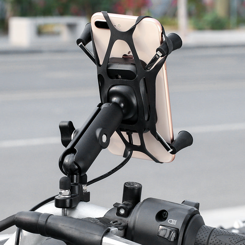 Aluminum Handlebar Mount Phone Holder and Wireless Charger