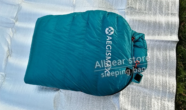 Ultralight Mummy Style Sleeping Bag -Three Season Goose Down