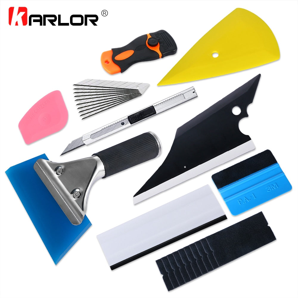 10 Piece Tool Kit- Vinyl Wrap, Carbon Fiber, Light Film, Window Tint