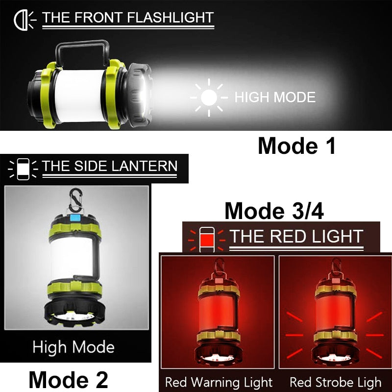 Multifunction, Rechargeable LED Camping Lantern