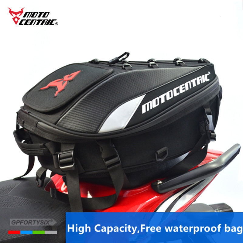 2018 Brand New Waterproof Motorcycle Tail Bag Multifunction Motorcycle Rear Seat Bag High Capacity Motorcycle Rider Backpack