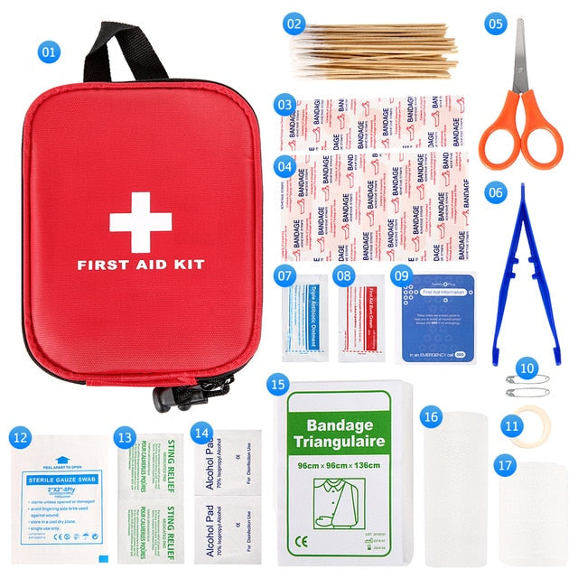 100 Piece Emergency First Aid Kit - Outdoor Camping Hiking