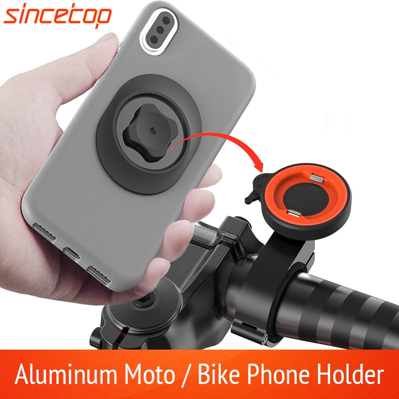 Quick Mount Universal Motorcycle Handlebar Mobile Phone Holder Aluminum