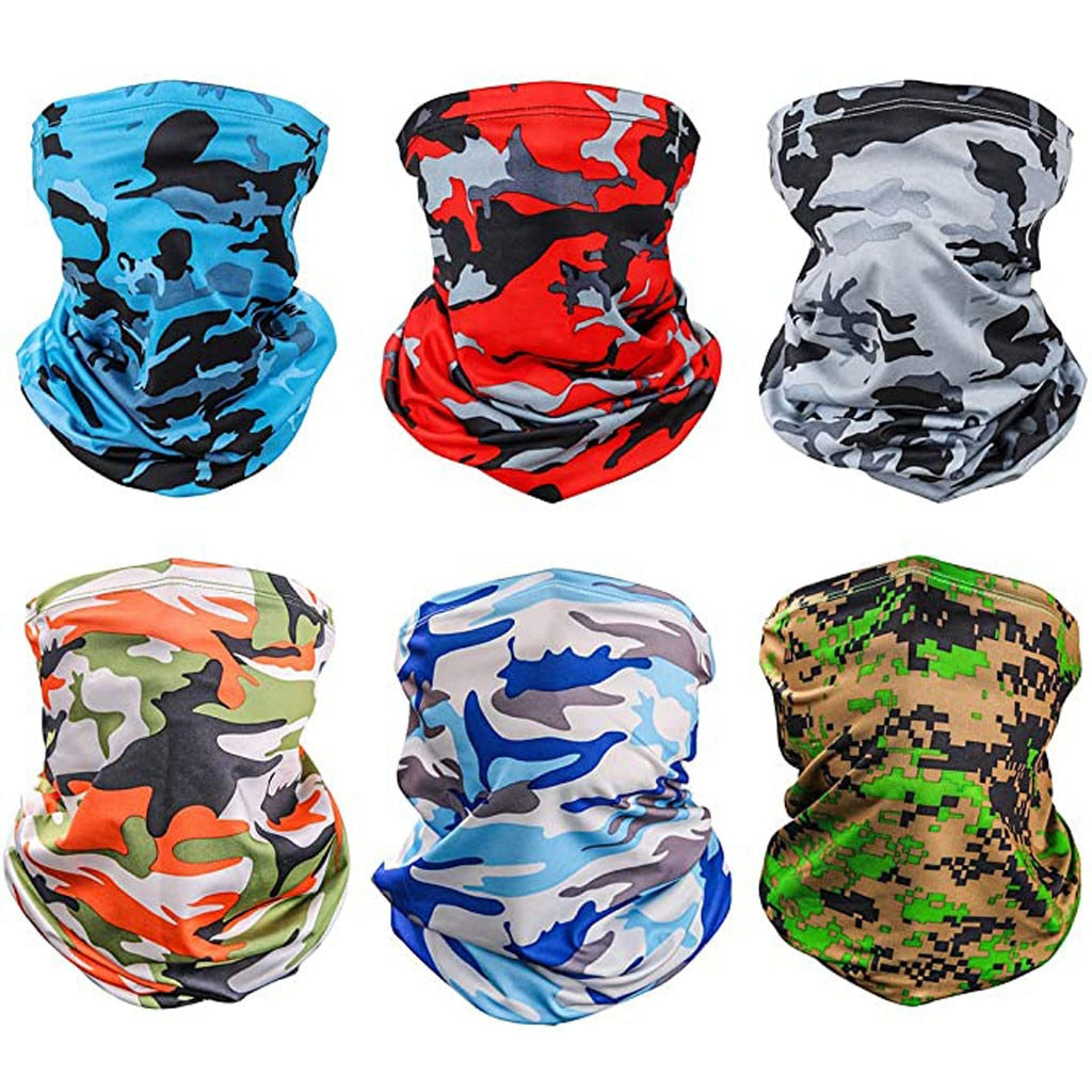 6 Camo Pattern Buffs  - Wind and Sun, UV Protection