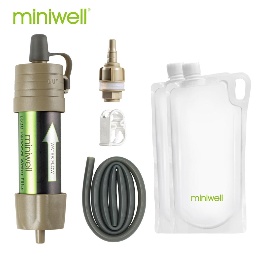 Portable Camping & Hiking Water Filter with Collapsible Water Bags