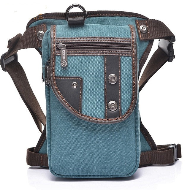 Sweet Retro Canvas Leg Bag
