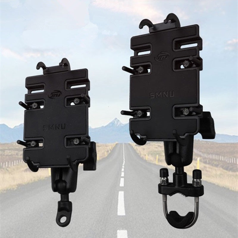 Rugged Aluminum Handlebar Ball Mount Phone / Camera Holder