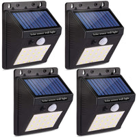 Deals on 4-Pack Decenttechs New Upgraded 20 LED Solar Lights