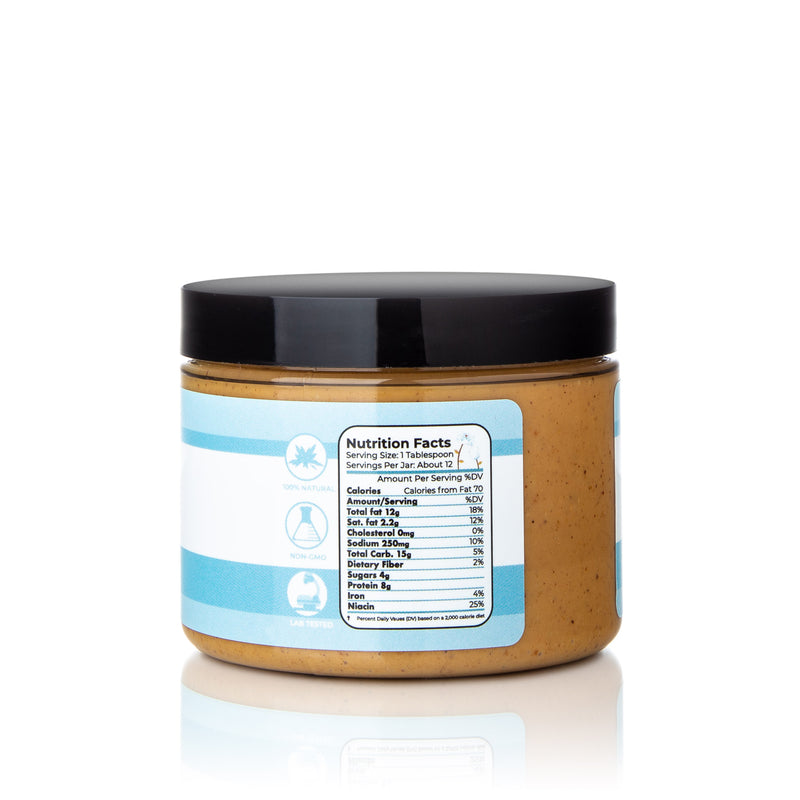Our CBD peanut butter is 100% natural and comes with a powerful 500 mg of full spectrum CBD! Perfect treat for your dog! Good for Anxiety, General pain and inflammation, Joint pain, Nausea, Aggression, Allergies, Eczema, Psoriasis, Seizures, and Responsiveness