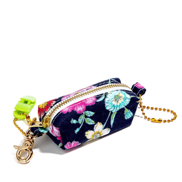 Navy Blue Floral Dreams 💐 Poopy Bag Holder