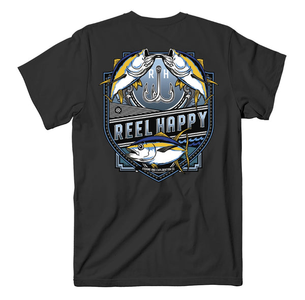 Ahi Crest Tee - Black - Reel Happy Co