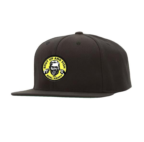 Hear No Evil Snapback - Black - Reel Happy Co