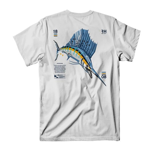 Murray T-Shirt - White - Reel Happy Co