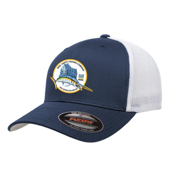 Murray Trucker Mesh Hat - Navy - Reel Happy Co