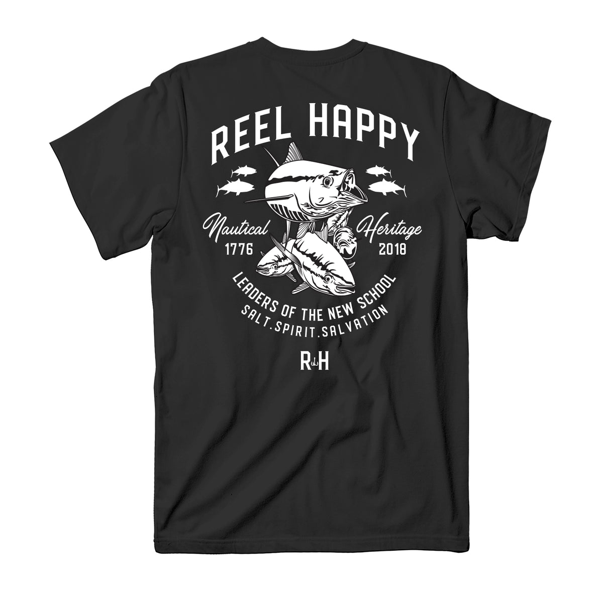 True School Pocket Tee - Black - Reel Happy Co
