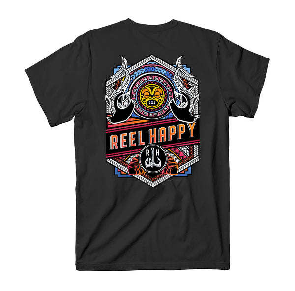 Hammerheads Pocket Tee - Black - Reel Happy Co