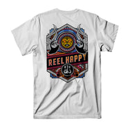 Hammerheads Pocket Tee - White - Reel Happy Co