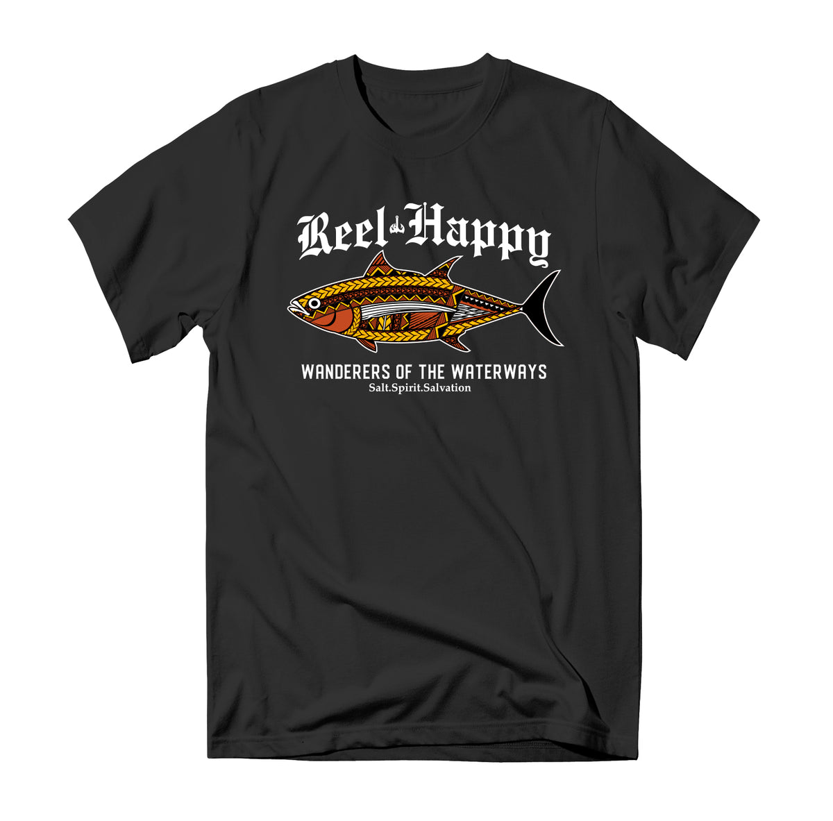 Tuna Tribe T-Shirt - Black - Reel Happy Co