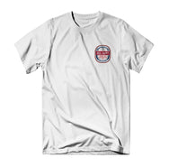 Turnt Label Tee - White - Reel Happy Co