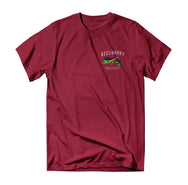 Mahi Mahi T-Shirt - Cherry Heather - Reel Happy Co