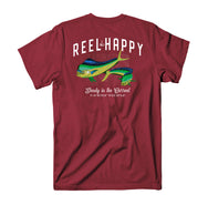 Mahi Mahi Tee - Cherry Heather - Reel Happy Co