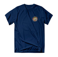 Trout Blender Tee - Navy - Reel Happy Co