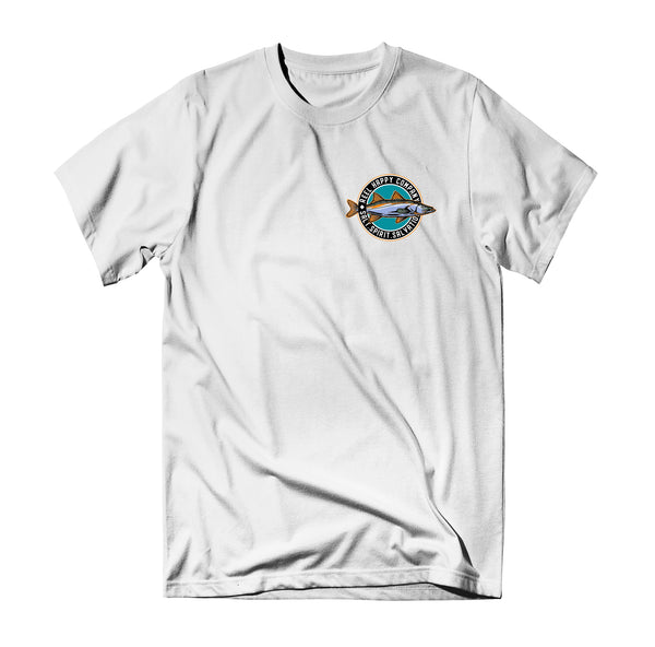 GS Snook T-Shirt - White - Reel Happy Co