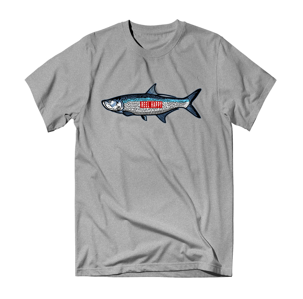 GS Tarpon Tee - Heather Grey - Reel Happy Co