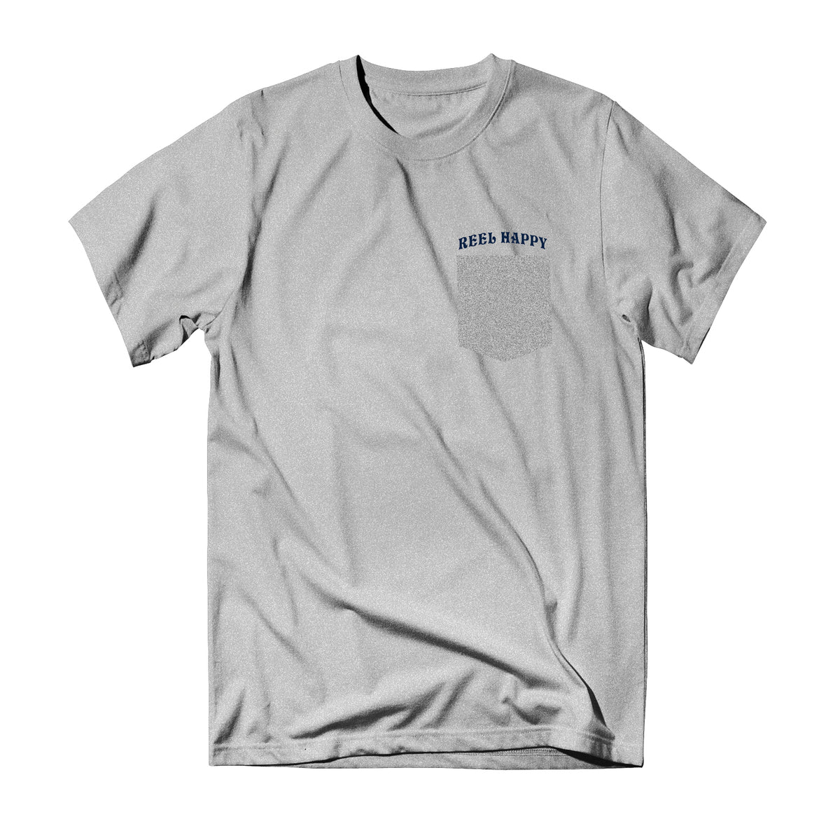 Large Marge Pocket Tee - Heather Grey - Reel Happy Co