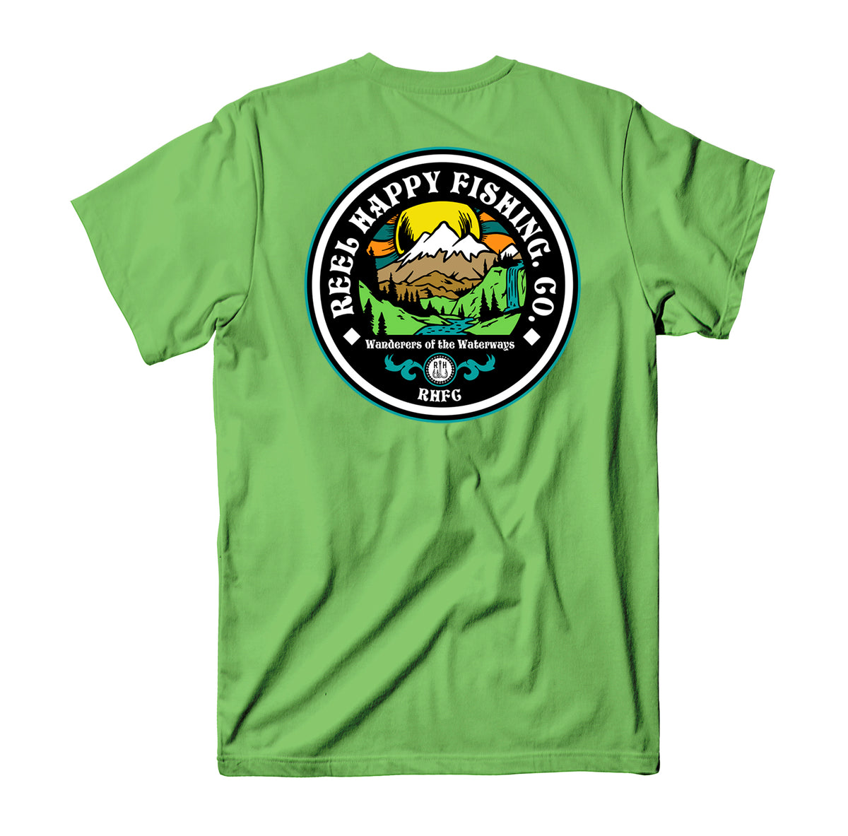 Sunscape Tee - Lime - Reel Happy Co