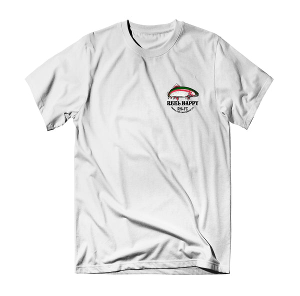 Trout Stack Tee - White - Reel Happy Co