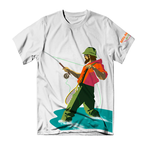 Frequent Flyer Tee - White - Reel Happy Co