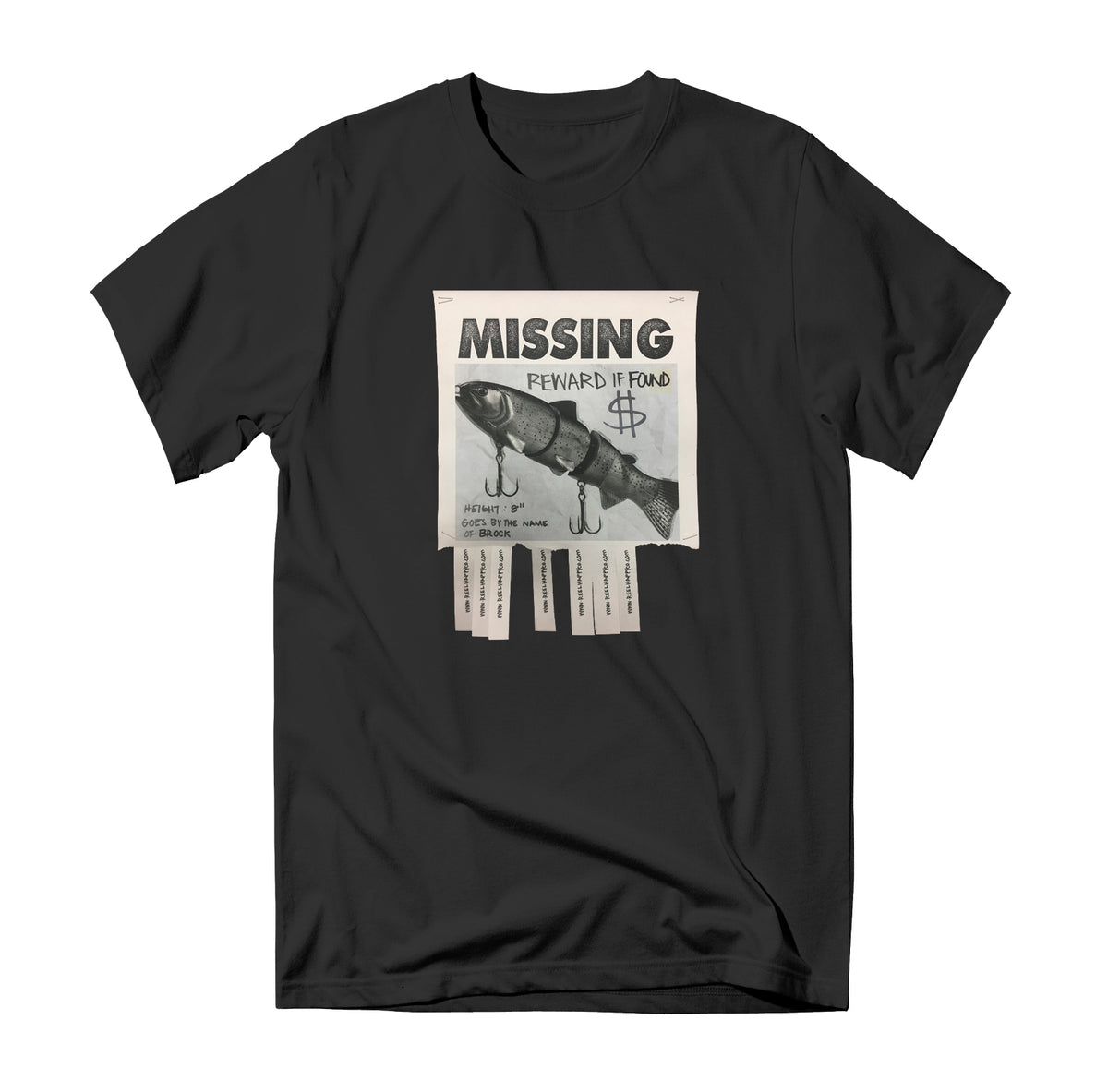 Missing Tee - Black - Reel Happy Co