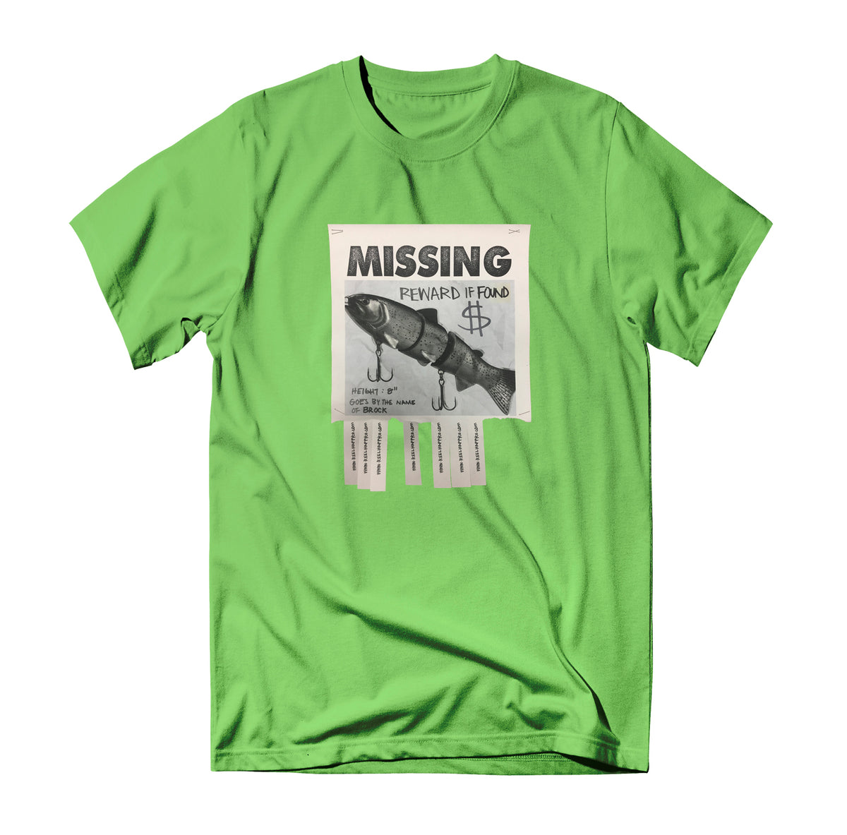 Missing Tee - Lime - Reel Happy Co