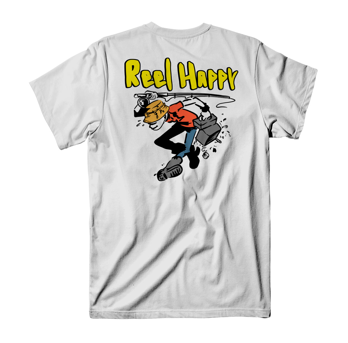 Jerk Bait Tee - White - Reel Happy Co
