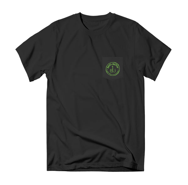 Max Slappies Pocket T-Shirt - Black - Reel Happy Co