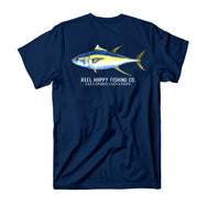 Yella Pocket Tee - Navy - Reel Happy Co