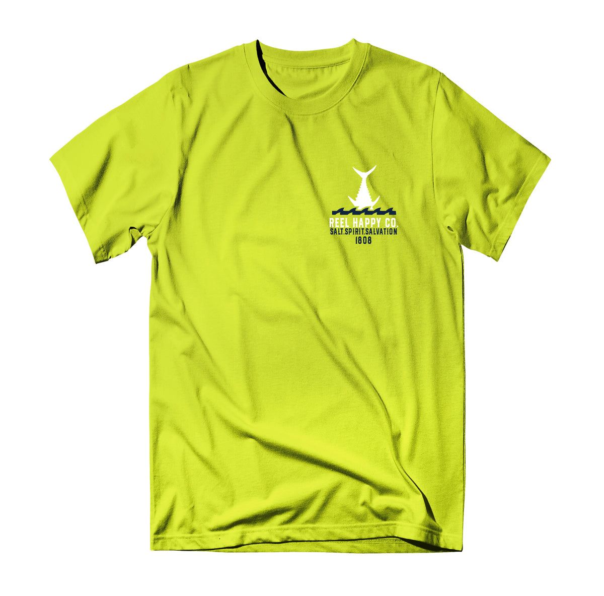 Head Start Tee - Hyper Yellow - Reel Happy Co