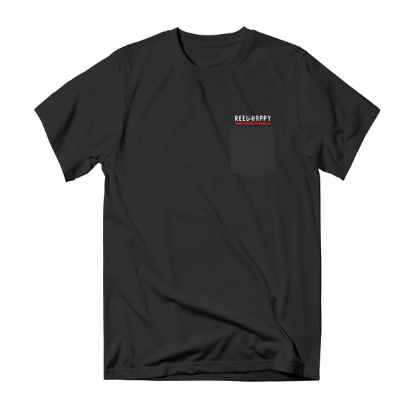 Patriot Pocket Tee- Black - Reel Happy Co