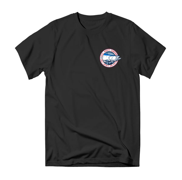 Wheeler Tee - Black - Reel Happy Co