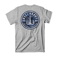 Ocean Camo Logo T-Shirt - Heather Grey - Reel Happy Co