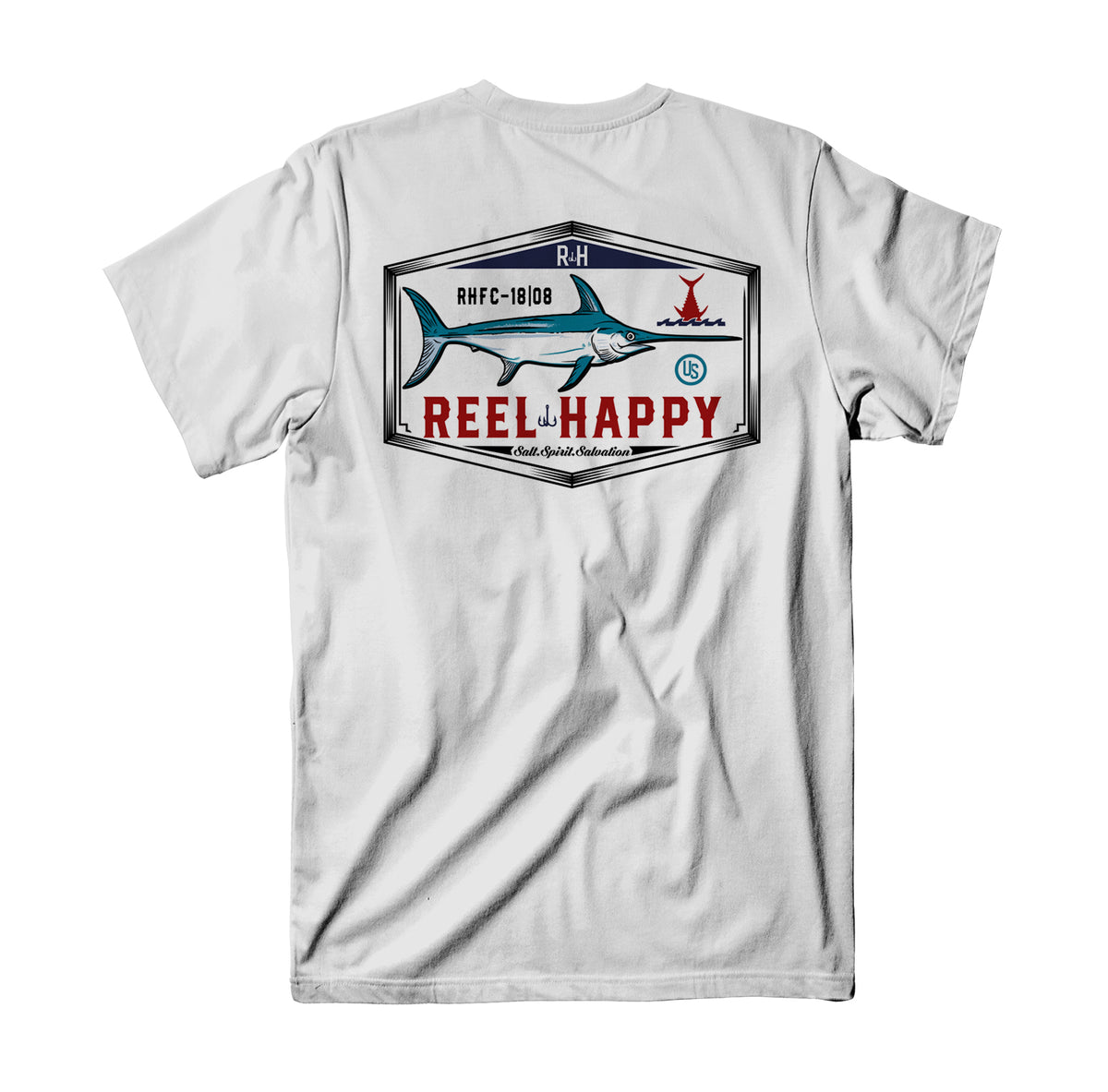 Lucky Cutter Tee - White - Reel Happy Co