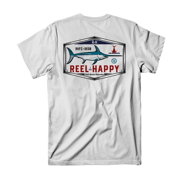 Lucky Cutter T-Shirt - White - Reel Happy Co
