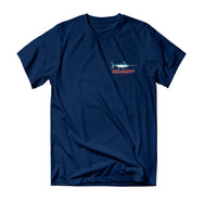 Lucky Cutter T-Shirt - Navy - Reel Happy Co